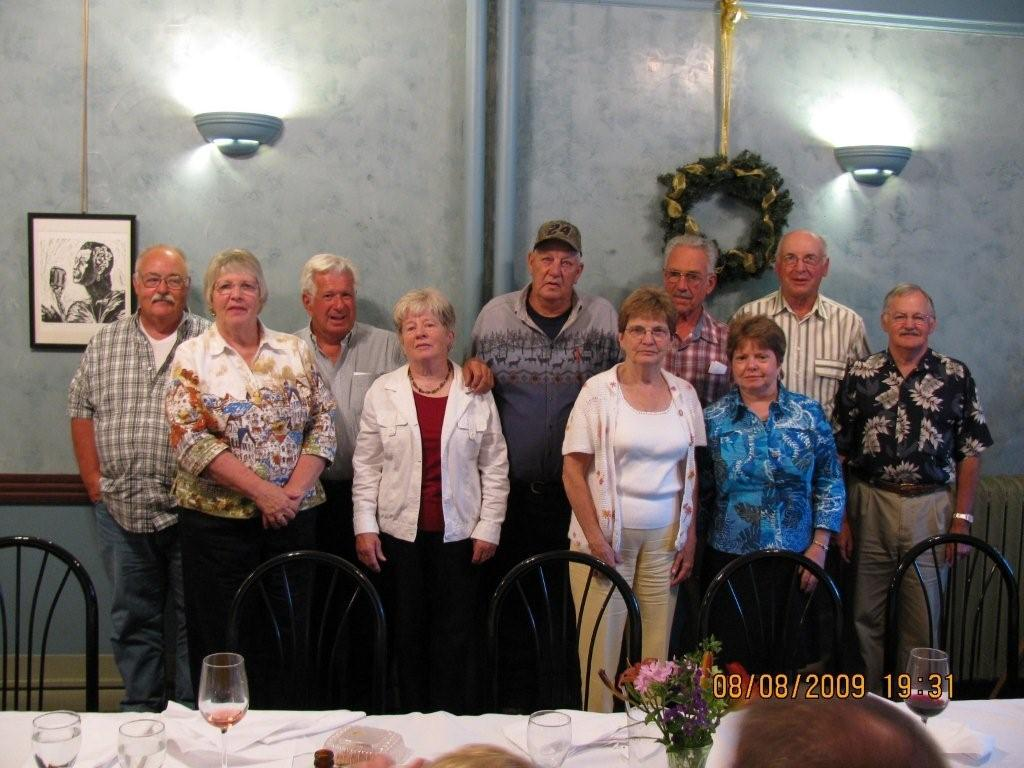 Class of BFA1959 reunion was held Aug. 8 at Chow Bella in St. Albans.  There were 10 members out of 16 present. They are Left to right:  Roger Geno, Pauline (Webb) Lavallee, Ronald Lamell, JoAnn (Ryan) Duffy, Ronald Gates, Barbara (Ovitt) Sargent, Robert Howard, Jane (Cushing) Carlson, Ronald Perry, Giles Boissoneault.