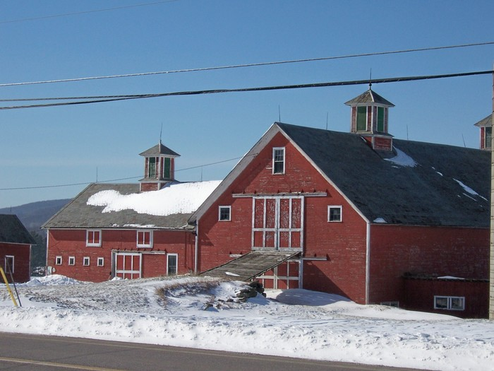 Dale Bellow's Beautiful Barn, Route 104, the Gateway to Fairfax Village.