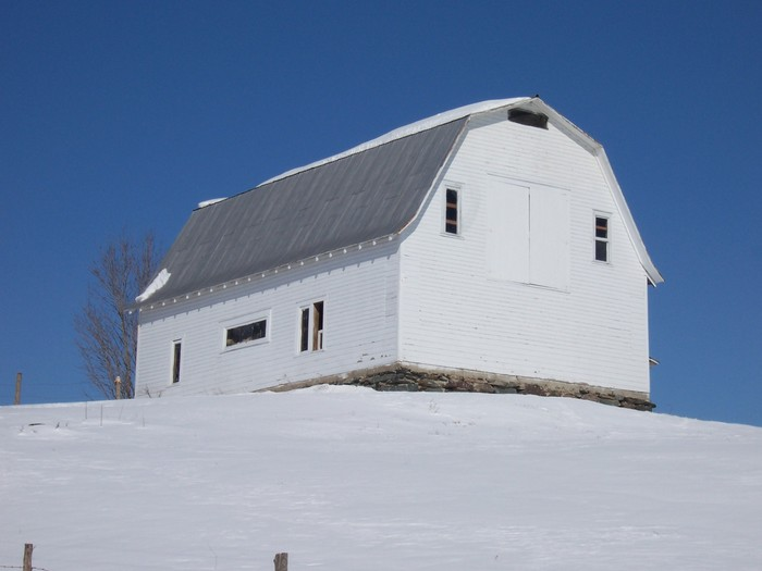 McNall Farm, McNall Rd. Fairfax, Gambrel Style Barn, perched on hilltop.