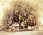 SECOND HOUSE, 9 FLETCHER ROAD.  This was actually a remodel by John E. Kendrick about 1901 which later burned.  Pictured with him are his wife Mary Boyce Kendrick, son John B. (Jack) and daughter Katherine - Photo and information is courtesy of Al Weldon and his wife (Butler Descendant) of Burlington, Vermont - FR0009 002b
