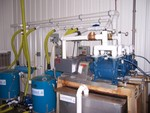 These two vacuum pumps help bring the sap to the storage tanks more efficiently.