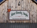 Nice sign on the outside of the Minor Family Maple Sugarhouse.