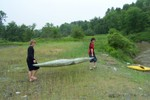 Kyle Mead & Devin Keefe bring the canoes to the water - 2007-06-02 003