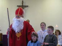 Highlight for album: St. Lukes Christmas Basket Preparation & St. Nicholas