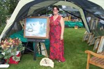 Ann Lemeux of Dusty Trail Realty is also an artist - She said she thinks the talent comes from her mother's side of the family - Ann's father was a classmate of mine at St. Mary's and graduated in the same class I did in 1951 - 2007-07-28 010
