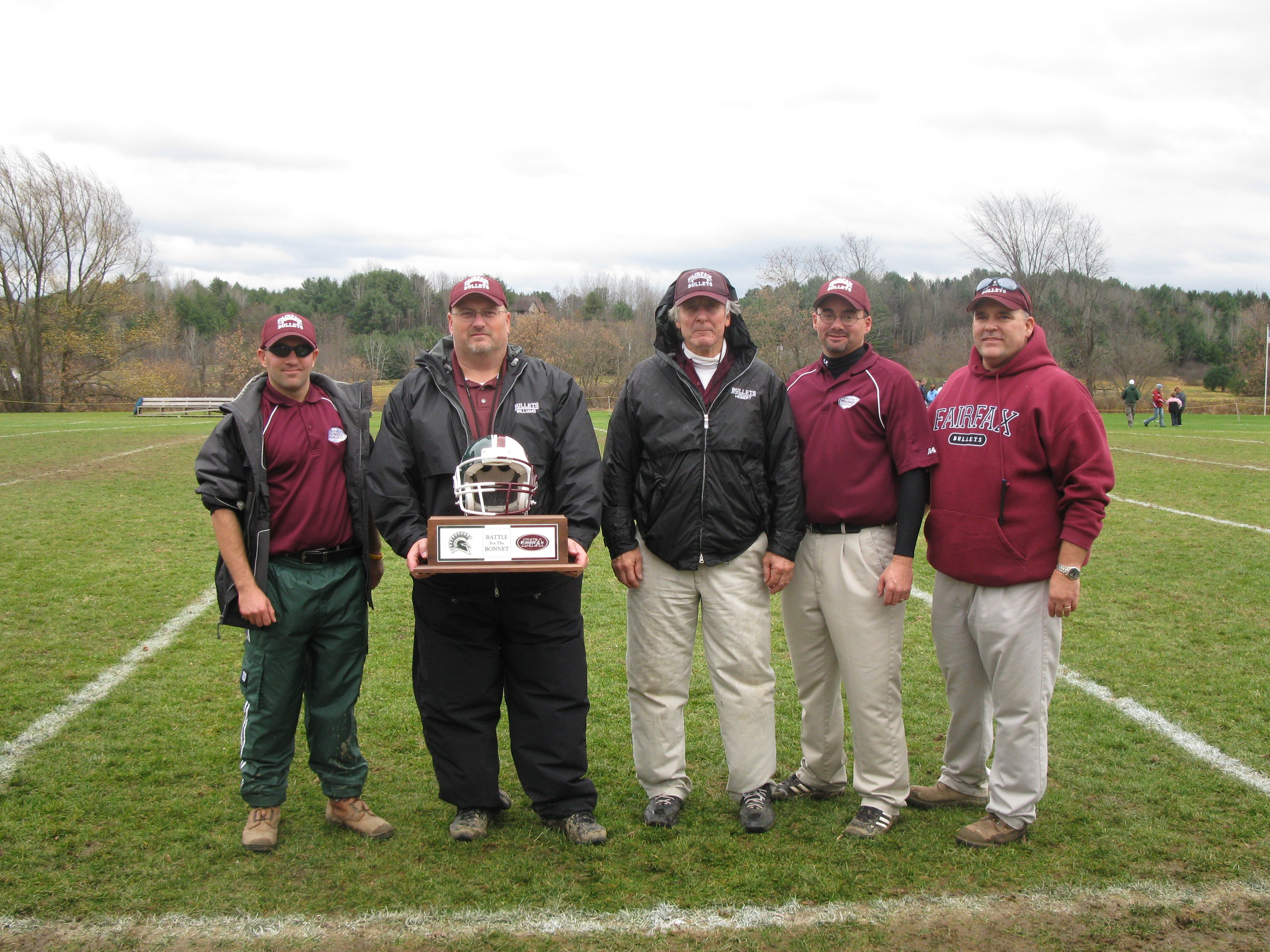 Left to right  Coach Laroche, Coach Williams, Coach Hebert, Coach Redding, Coach Campbell  - IMG 0390