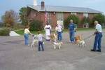 Collette Campbell, Zoe Kelley, Jeannette & Tim Wills and Charlie Blondin and their pets - 2007-10-06 003