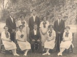 Bellows Free Academy - Class of 1925 - Back Row Standing - Roger Cyril Rugg, Lillian Mary Burleson, Harlow Cecil Wood, Eulea Nellie Morton, Albert William Rich - Front Row Seated - Mary Augusta Wright, Carolyn Anna Ballard, Clifford William Lanois, Perle Mary Vincent and Vera Edna Spaulding