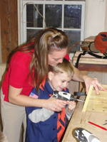 Highlight for album: Cub Scout 11/3/09, Pie Throwing & Woodworking!