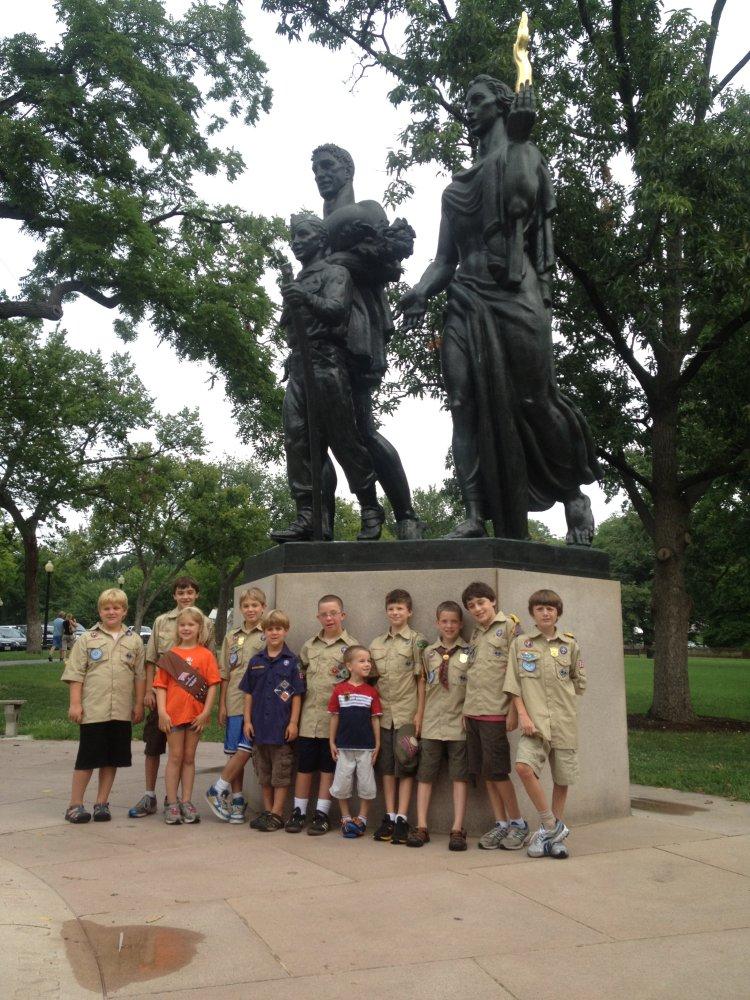 cub boyscout monument