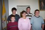 Left to Right - Luke, Jacob, Karen, Ben & Joe Langelier - Missing from the photo are the two older children, Josh & Kaitlin and Karen's husband Paul. - 2007-10-07 003