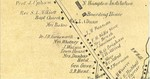 The above photo shows Main Street in Fairfax Village from Sam Hudson's House down to just below where Hunt Street branches off at the top of Main Hill in 1857 - fxvillno 1