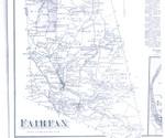 Southern half of  Fairfax, Vermont in 1870