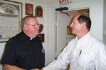 Guy Vanzo bids farewell to Father Frank - Picture 3645