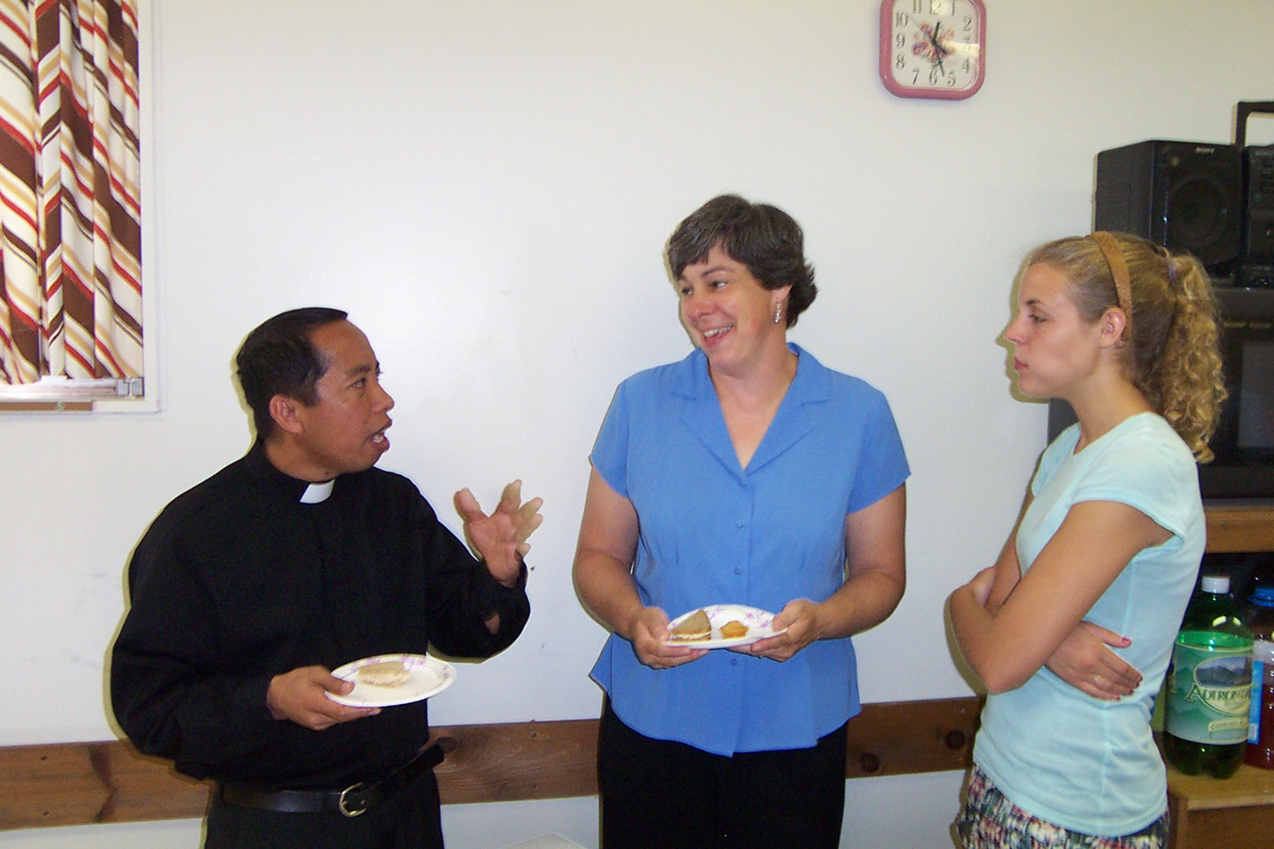 Father Julian, Karen Minor and one of her daughters - 2008-07-06 010
