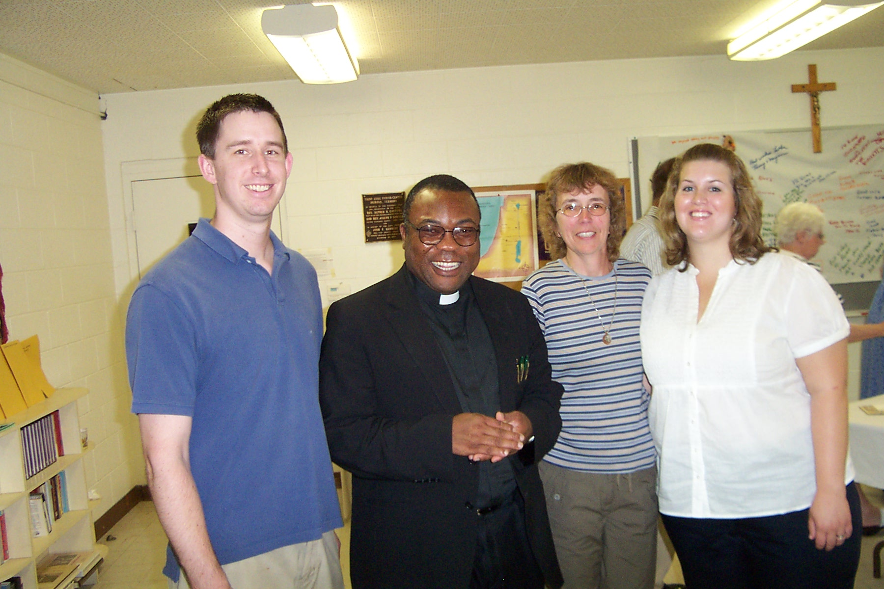 Justin, Father Rome, Kathy & Emily - 2008-06-29 054