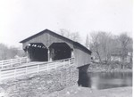 cain081 - The double covered bridge at the south end of the village prior to the flood of 1927 - Courtesy of Mike & Margie Cain
