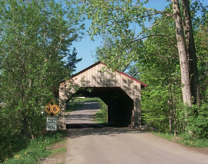 The Maple Street Covered Bridge taken by Carol Lavallee Graves - May 18, 2004