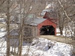 Fairfax Covered Covered Bridge - March 21, 2005 - Photo by Mike Cain