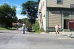 fxegg043 Ed Nuttall & Jim Meunier do traffic duty in the center of town