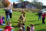 Dean Potter & Patrick Bessette talk to the youngsters about what they should do if there was a fire at their house - 2007-10-13 016