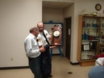 #9-Chief Dean Potter presents Jim with a clock with special inscription.