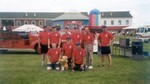 2004 Vermont Teddy Bear Fireman's Muster Champions - Back Row - Mike Cain, Kyle Magnusson, Jordan Hayes, Jesse Fleming, Ivan Patry, Chief Jim Field and Dean Potter - Front Row - Justin Hayes, David Toof, Tom Crucitti (Photo by Brenda Potter)
