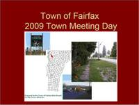 Highlight for album: Fairfax Town Selectboard Presentation - 2009