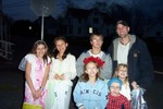 This eager group of trick or treaters was caught near the Apartment Building at the beginning of Fletcher Road - 2007-10-31 001