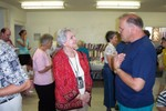 Donna's Mom chats with Mike Cross