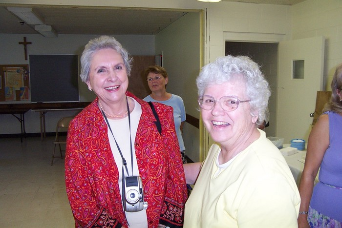 A close up of Donna's Mom and Dot Meisenzahl