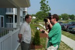 Bill Ormerod is interviewed by Channel 5 News Reporter Ben Stein - 2007-05-25 002
