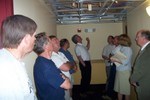 In the foreground, Chris Santee and Jim Meunier listen as more questions are answered - 2007-05-25 008