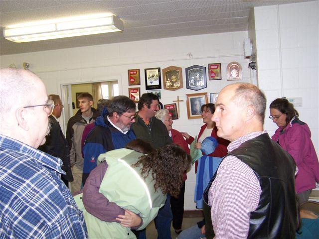 Steve Bessette, Jimmy Minor, Pete Fitzgerald, Paul Langelier, Karen Langelier, Matt Parisi & Karen Fitzgerald - Bishops visit 002