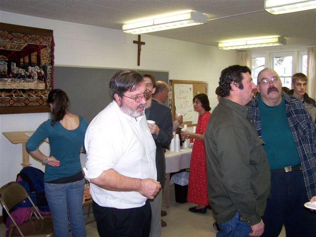 Pete Fitzgerald, Paul Langelier & Steve Bessette - Bishops visit 008