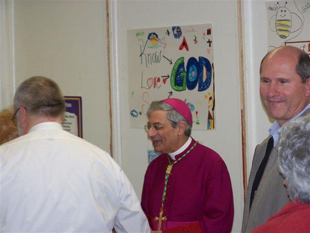 Bob Bessette, Bishop Matano & Guy Vanzo - Bishops visit 010