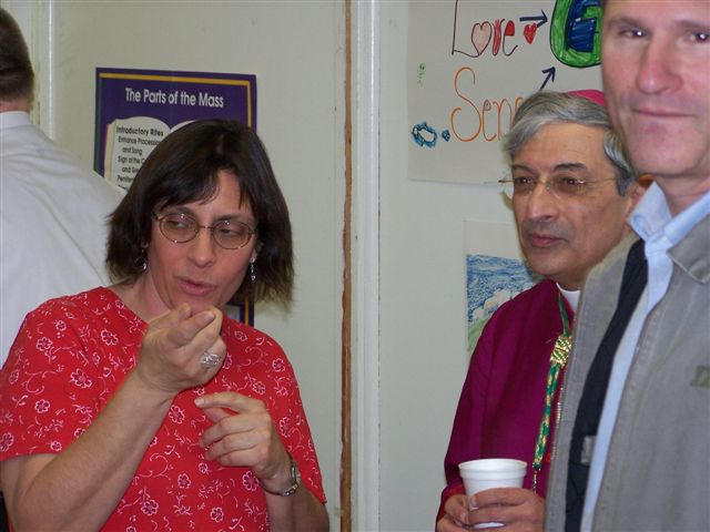 Bridget Morgan, Bishop Matano & Guy Vanzo - Bishops visit 011