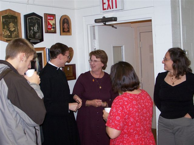 Jimmy Minor, Fr Dan White, Jeannette Wills, Bridget Morgan and Karen Fitzgerald - Bishops visit 017
