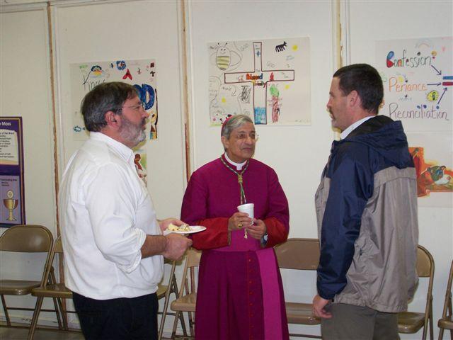 Pete Fitzgerald, Bishop Matano & Jim Hogan - Bishops visit 019