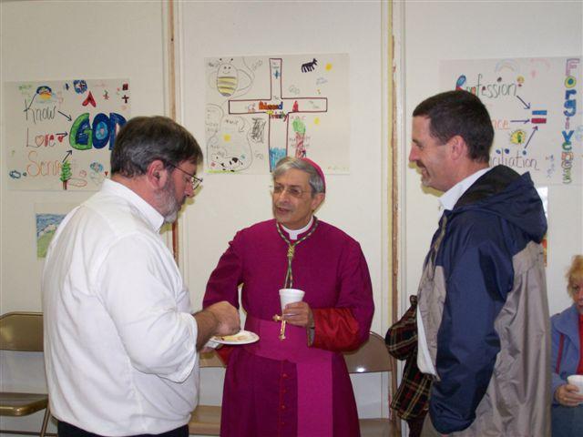 Pete Fitzgerald, Bishop Matano & Jim Hogan - Bishops visit 024