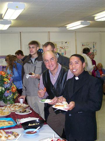Jimmy Minor, Matt Parisi & Fr Julian - Bishops visit 027