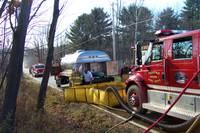 Highlight for album: Fire At Bill & Frena Phillips Farm On Route 128, November 10, 2007