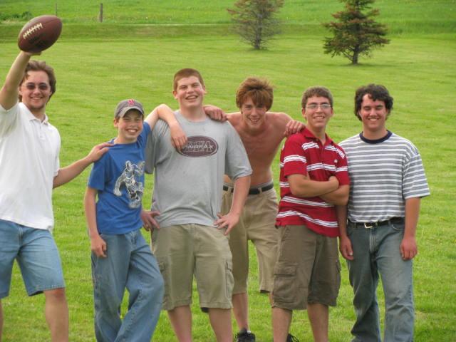 Kyle Redding, Luke Langelier, Joe Langelier, Zach Machia, Casey Morgan, Kyle Racine - IMG 0612