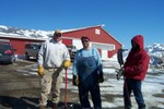 Steve Orton & Jack Wright arrived to lend a hand as Gilles desperately looks for more volunteers to help remove the snow from the roof before tonight's storm - 2007-03-01 005