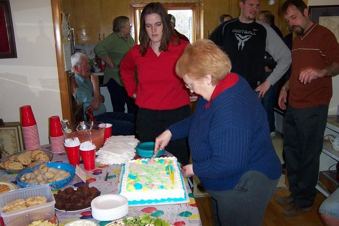 Marge Ellsworth Cuts The Cake