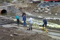 Highlight for album: Installing The River Road Pre-Cast Concrete Bridge