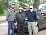 Vince Redding, Father Rome & Jim Groseclose - St. Lukes Church cleanup 006