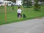 Kyle Racine - St. Lukes Church cleanup 008