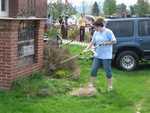 Kaitlin Minor - St. Lukes Church cleanup 034
