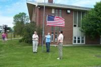 Highlight for album: Flag Raising Ceremony At St. Luke's May 30, 2010